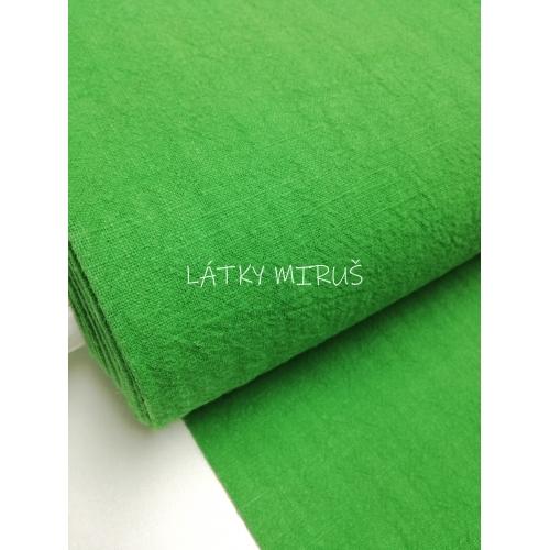 Lněný vzhled - zelená