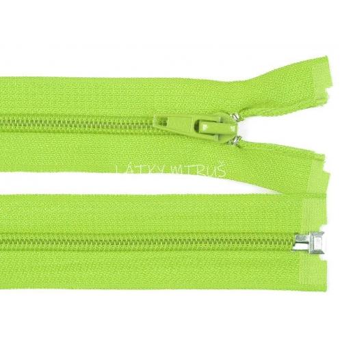 Spirálový zip šíře 5 mm délka 70 cm bundový zelený