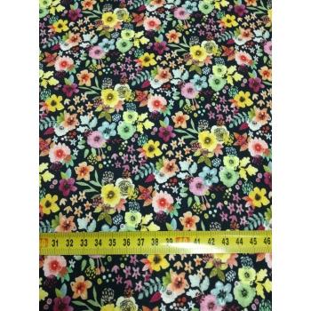 č.2099 květy na černé