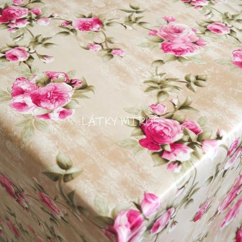 PVC ubrusovina - Růže na mramoru