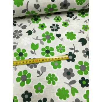 č.3975 květy zelené