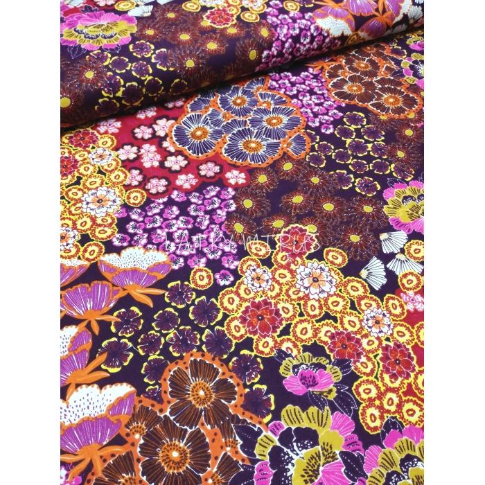 č.2882 květy na fialové