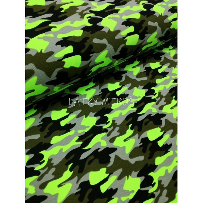 č.312 úplet - maskáč neonový zelený