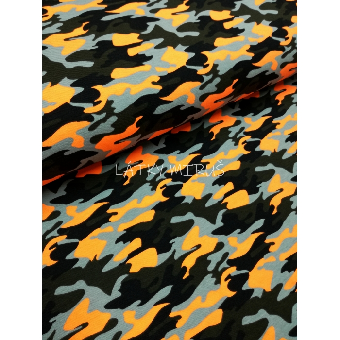 č.306 úplet - maskáč neonový oranžový