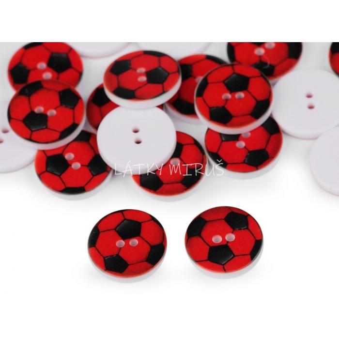 knoflík 21 míč červený