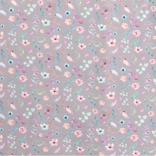 Úplet - květy na šedé malé