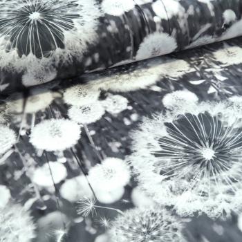 Dekorační látka - odkvetlá pampeliška šedá