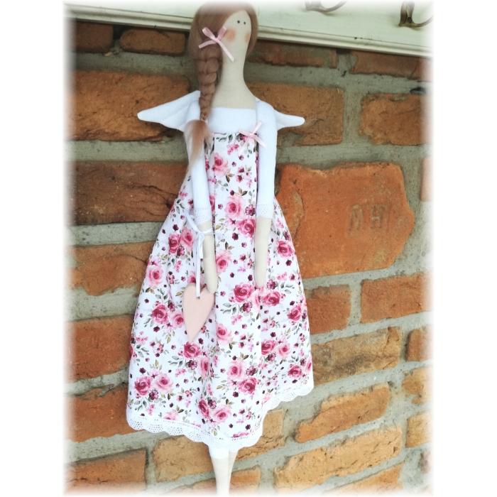 Andělka - růžičky na bílé