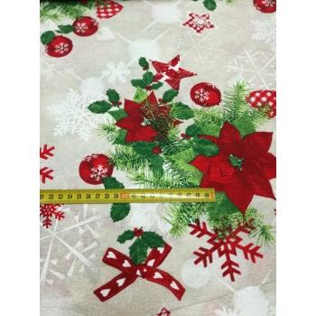 č.9286 vánoční růže - dekorační