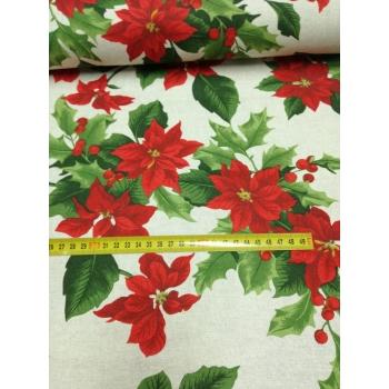 č.9251 vánoční růže na režné