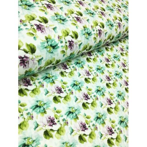 č.5373 květy na bílé