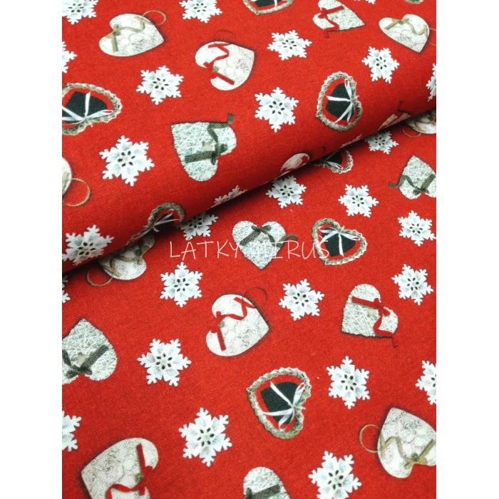 č.5550 vánoční na červené