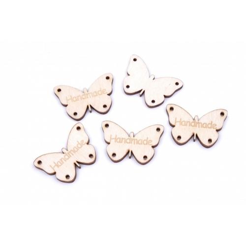 Dřevěná dekorace motýl handmade 3x2cm