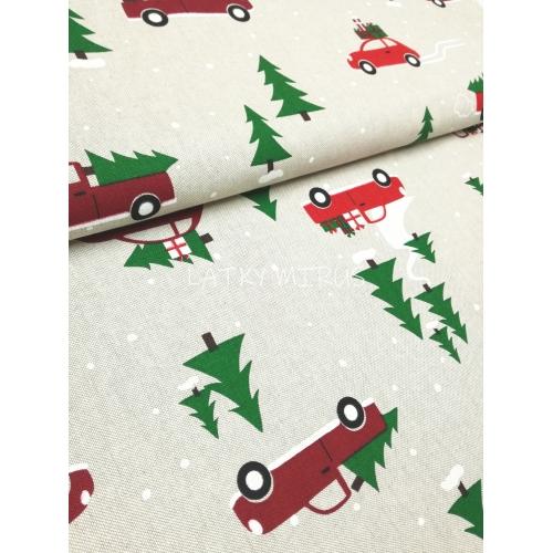 Vánoční látka - auta