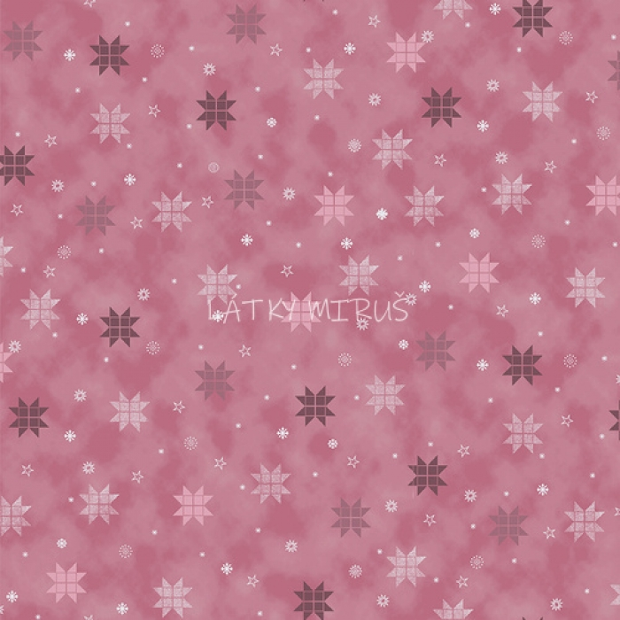 č.9139 hvězdy na růžové