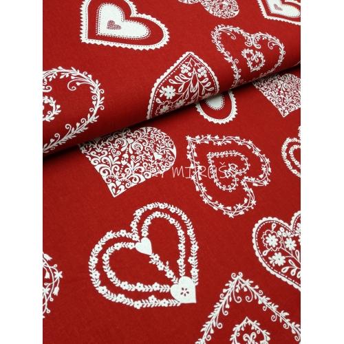 č.2962 srdce na červené