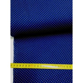 č.7047 béžový puntík na modré
