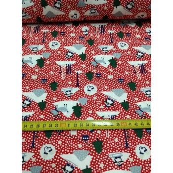 č.7057 vánoční radovánky - červené