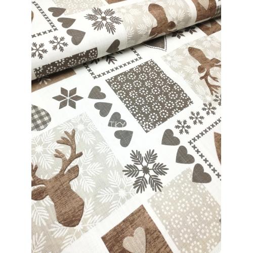č.9081 zimní patchwork