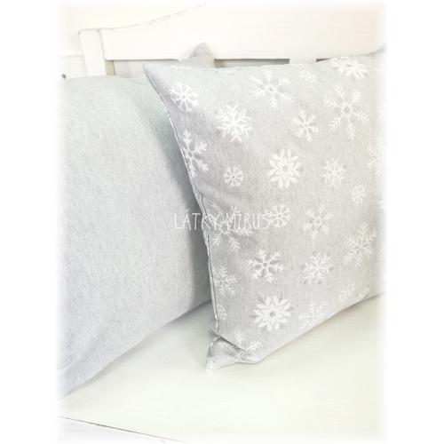 Povlak 40x40 UNI šedý k vánočním