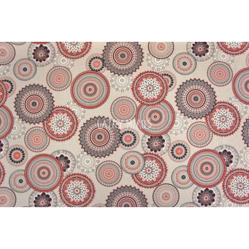 č.4279 mandaly červené -  dekorační
