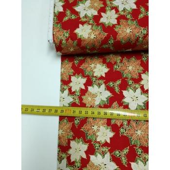 č.9077 vánoční růže na červené