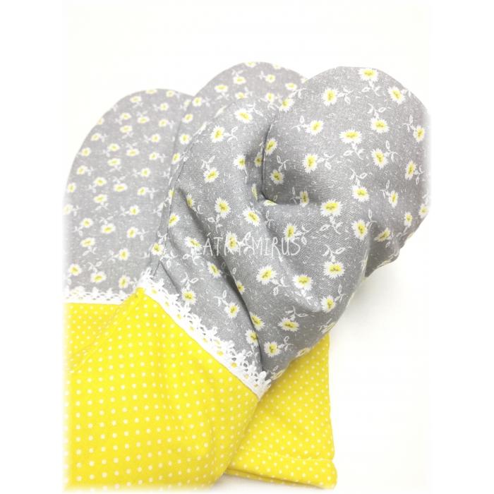 Kuchyňská chňapka - Žlutý květ