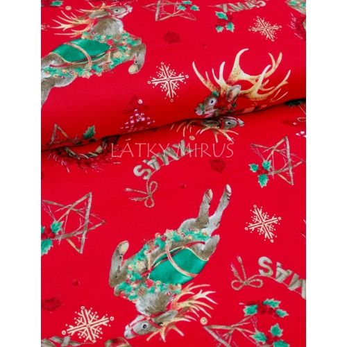 č.9153 vánoční na červené