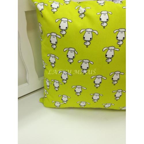 Povlak na polštář ovečky na zelené