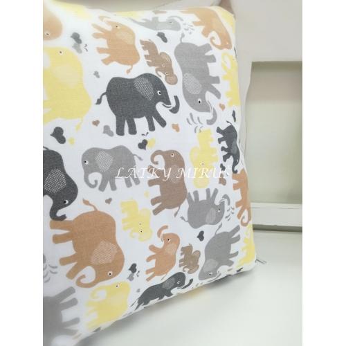 Povlak na polštář sloni 45x45