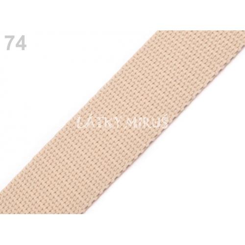 Popruh béžová světlá (25mm)