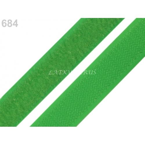 Suchý zip zelený 20mm