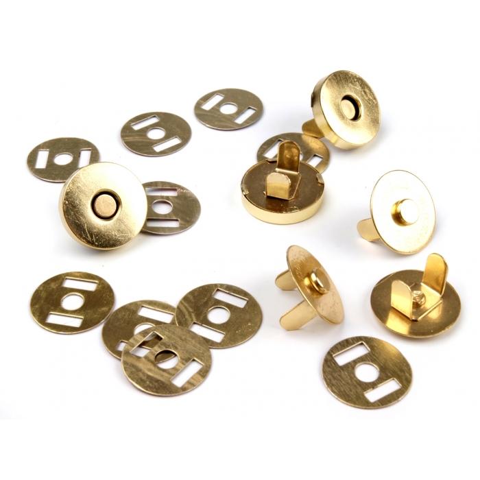 Magnetické zapínání zlaté - Ø18 mm