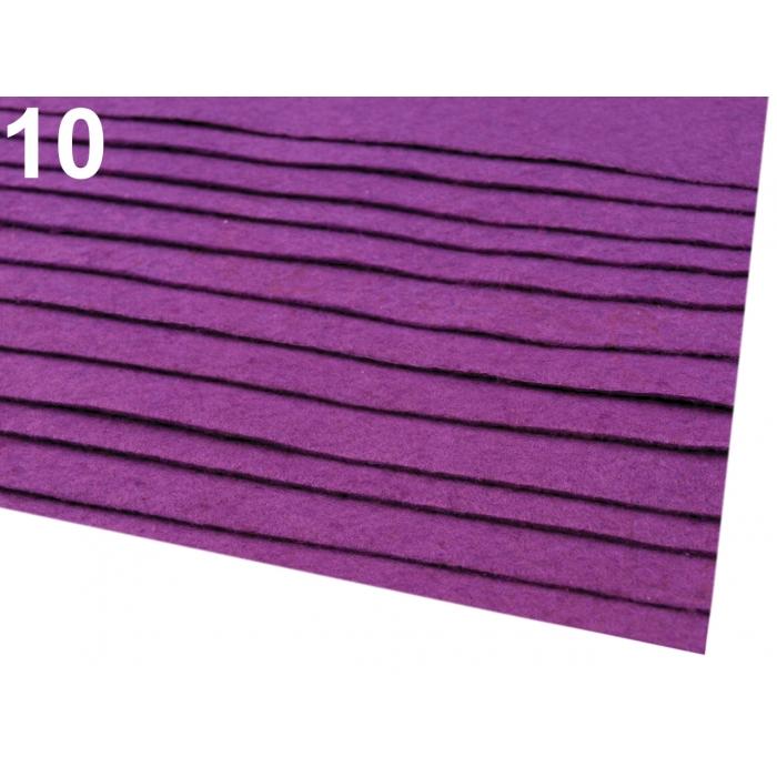 Látková dekorativní plsť - rubínová