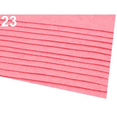 Látková dekorativní plsť- růžová