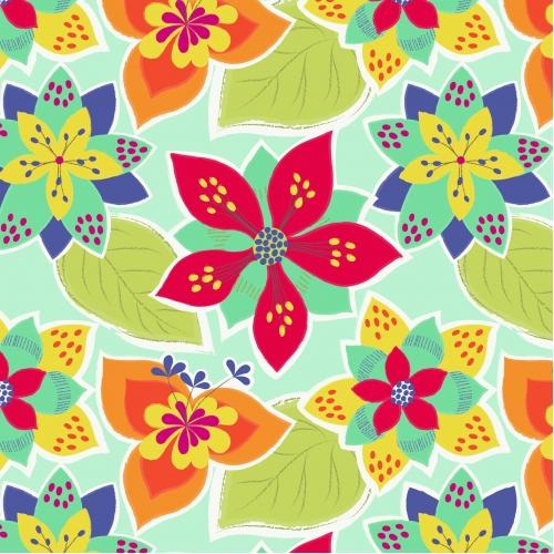 č.2935 Flowers Samba