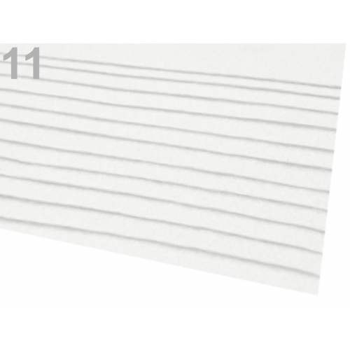 Látková dekorativní plsť-Bílá