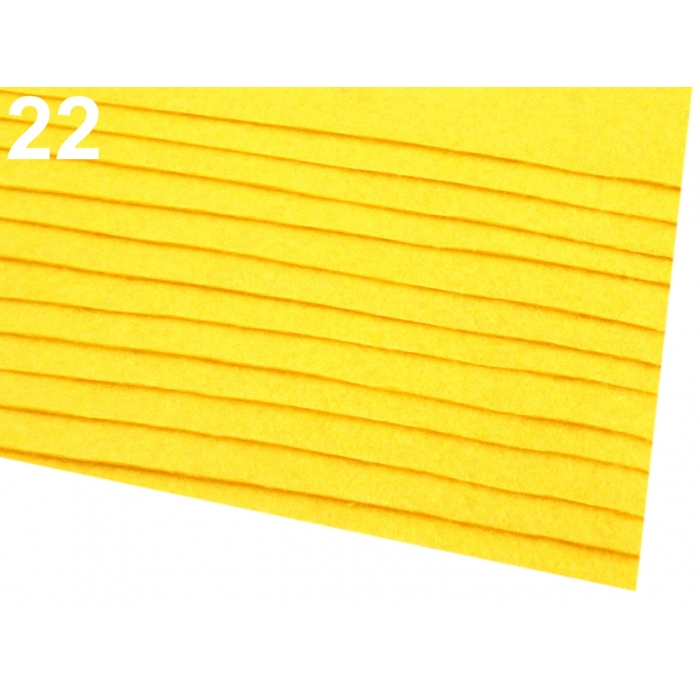 Látková dekorativní plsť-Žlutá