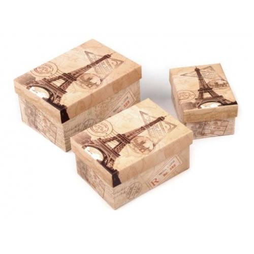 Krabice paříž 3ks